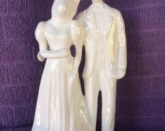 Groom and Bunny Bride Couple Wedding Cake Topper