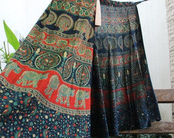 Dyed Cotton Wrap Skirt - KT1701-02