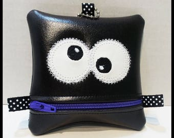 Little monster zipper pouch
