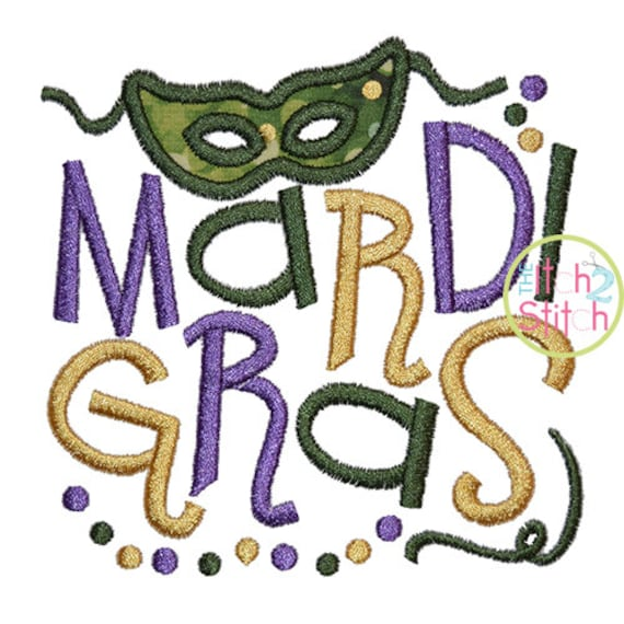 mardi gras with mask applique design for machine embroidery. Black Bedroom Furniture Sets. Home Design Ideas