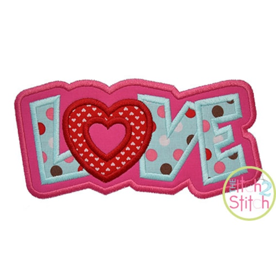 Love Double Applique Design For Machine Embroidery INSTANT DOWNLOAD now available