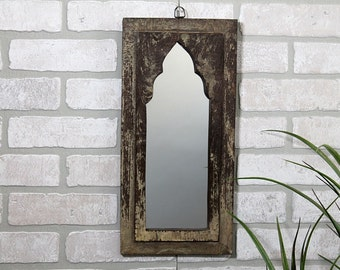 Weathered Brown Moroccan Mirror Vintage Wood Small Mirror Moroccan Decor Turkish Interior Isabella Mirror Grouping