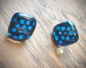 Surgical Steel Post Earrings, Polka Dot, Dichroic and Fused Glass, Gift for Her, Holidays, Birthday Present, Bridesmaid Gift