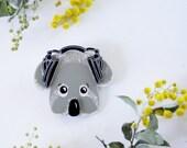 Junior Broadcaster Koala Wearable Art Pin by Winnifreds Daughter