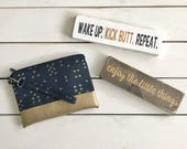 MOM MAIL - Mothers Day Package - handpainted sign - card - wallet clutch - mommy clutch - mothers day