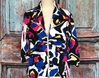 Joseph Ribkoff Abstract Jacket