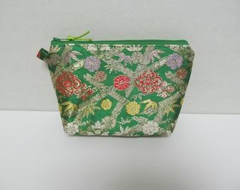 """Zipper Pouch/5""""x7.5""""x2.5""""/Japanese kimono Style"""