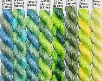 Hand Dyed Embroidery Floss - Stranded Cotton Thread - Variegated Shades for Needlecrafts