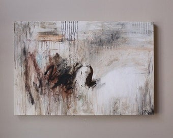 wall art,expressionist abstract,Contemporary  art,modern art,original painting,gray,brown,Acrylic painting