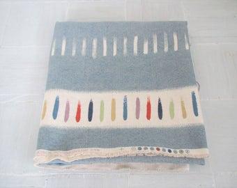 Vintage Osborne & Little fabric/Theorem/ blue and white textile/modern