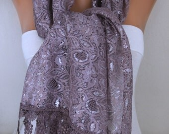 Mink Lace Scarf,Wedding Shawl Cowl Scarf Bridesmaid Gift Gift Ideas For Her Women's Fashion Accessories Best selling item scarf