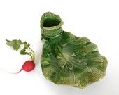 Vintage Cabbage Leaf Reli...