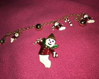 Mr. Bingle Pin and Bracelet