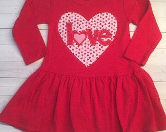 Valentine's Dress, Girl's Valentine Dress, Valentine's Day Dress