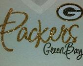 Green Bay Packers Women's Glitter Top