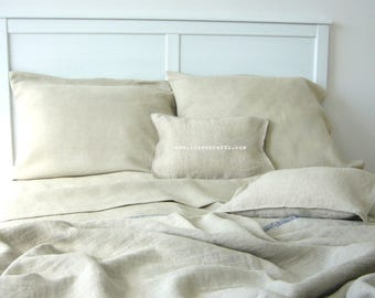 Natural Linen Flat Sheet and Pillowcases -Reserved- for Colin and Nicole
