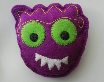 Monster Toothfairy or Wish Pillow with Pocket