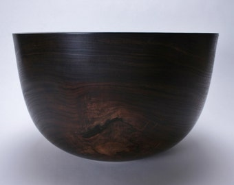 "Black Walnut Salad Bowl #1519 14 1/8"" X 8 3/4"""