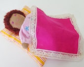 Sleeping Doll Set, Doll Set, Soft Doll, Yellow Doll, Bunting Doll, Brown Doll