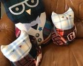Custom Owl Pillows for Karsson & Dan