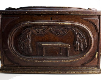Large Antique Odd Fellows Box with Key