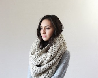 End of season SALE Super Chunky Infinity Scarf, loop scarf, circle scarf, cowl, snood // The Strasbourg - OATMEAL