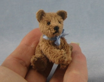 Miniature Furry Teddy Bear by Marie W. Evans