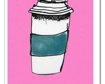 Coffee To Go Art Print