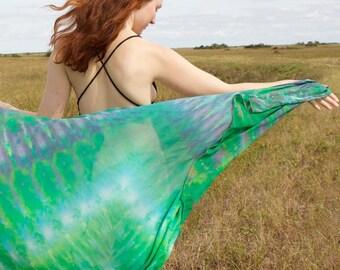 Hand Dyed Shibori Silk Chiffon Super Wrap Mega Scarf Wrap Choose Color
