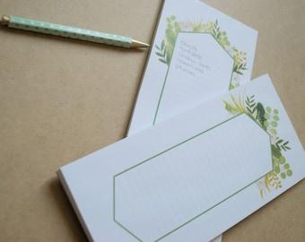 Notepads - Eucalyptus - set of 2