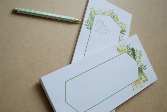 Notepads - Eucalyptus - set of 2