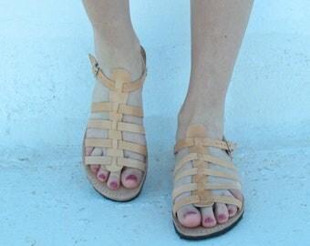 Greek sandals! Leather sandals, sandales grecques , sandalen