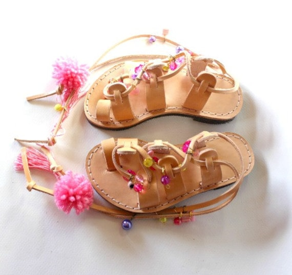 DAY SALE! Kids Boho Sandals/Leather Gladiator Sandals for children  girls sandals
