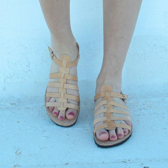 Greek sandals! Leather sandals, sandales grecques , sandalen