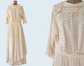 1910's Edwardian Lace Dress size M/L