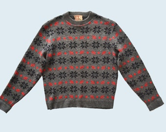 Snow Flake Wool Sweater size M