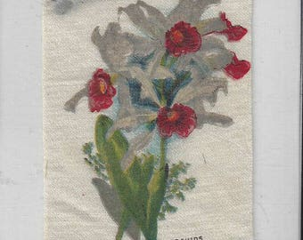 Vintage Orchids (14) Cigarette Tobacco Silk, early 1900s