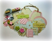 The Girls Paperie Scrapbooking Kit Vintage Pastel Colors Embellishment Kit for Scrapbooking Cards Mini Albums Tags and Papercrafts