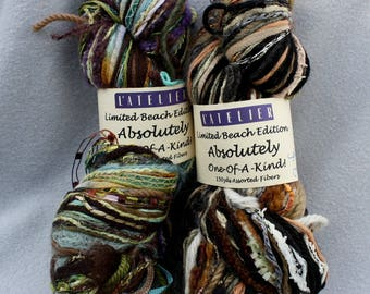 2 Varieties Multi Fiber Yarn L'Atelier Absolutely One of a Kind Limited Beach Edition