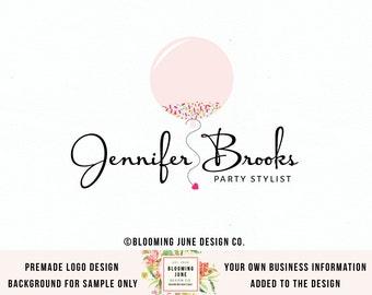 Balloon Logo Design Party Logo Design Graphic Design Bespoke Logo Design Boutique Logo Design Photography Logo Design Watermark Logo