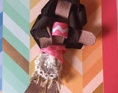 Disney inspired MOANA ribbon sculpture in a clip or headband or both.