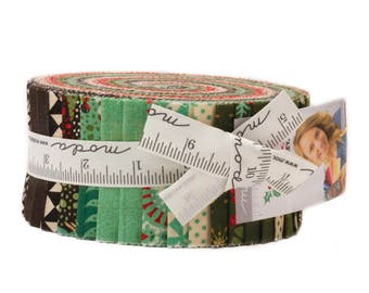 Moda Berry Merry Jelly Roll by Basic Grey Fabric Strips-  Christmas Quilt Fabric 2017  30470JR