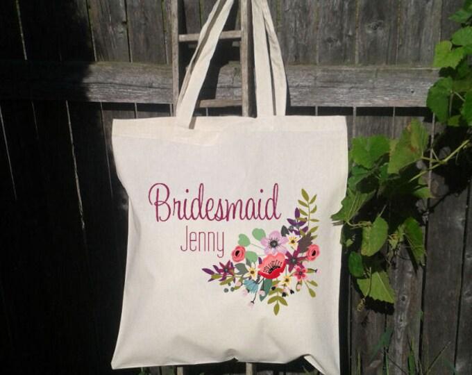 Bridesmaid Tote Bag, Wedding Welcome Bag, Wedding Tote Bag