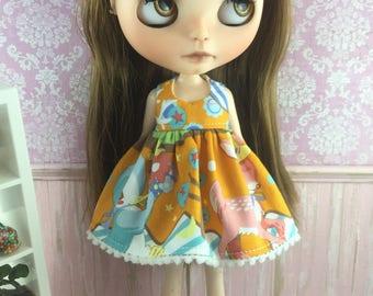 Blythe Dress - Kawaii Deer & Bird