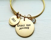 Enjoy The Journey Bracelet - Graduation Bracelet - Retirement Bracelet - Bangle - Birthday Gift - Grad Gift - ENjoy The Journey