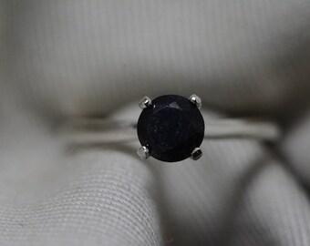 Black Diamond Ring, Certified 1.04 Carat Black Diamond Solitaire Ring Appraised at 1050.00, Real Natural Genuine Diamond Jewelry