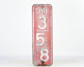 Vintage Street Sign, Wisconsin Street Sign, Old Sign, Traffic Sign, Rustic Sign, Vintage Red Metal Sign, Industrial Decor, Rustic Decor