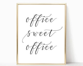 SALE -50% Office Sweet Office Digital Print Instant Art INSTANT DOWNLOAD Printable Wall Decor