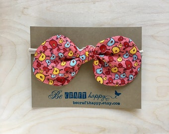 Bow Headband - Mini Birds