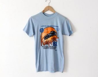 vintage Mustang t-shirt, 1981 Kingsport car show tee